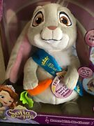 Clover Blue Ribbon Bunny Disney Sofia The First Dance With Me Talking Plush New