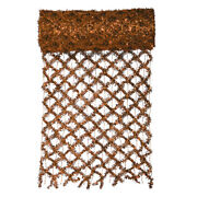 Vickerman 30' X 12 Extra Wide Wired Mesh Copper Tinsel Garland Ribbon