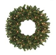 Northlight 8and039 High Sierra Pine Artificial Christmas Wreath Clear Lights
