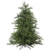 Northlight 7.5and039 Oregon Noble Fir Artificial Christmas Tree - White Led Lights