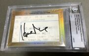 Limited To Piece Hideo Nomo/ Masahiro Park Double Sided Autograph 2013 Leaf Cut