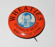 1937 Wheaties Knot Hole Gang Pacific Coast San Francisco Seals Lefty Oand039doul Pin