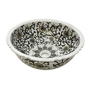 Dawn Gvb87388 Ceramic, Hand Engraved And Hand-painted Vessel Sink-round Shape