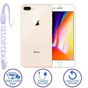 Apple Iphone 8 Plus Gold 64gb Atandt T-mobile Gsm Unlocked - Excellent