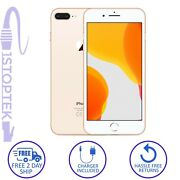 Apple Iphone 8 Plus Gold 64gb A1897 Atandt T-mobile Gsm Unlocked - Excellent