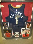 Zion Williamson New Orleans Pelicans Signed Framed Matted Jersey Fanatics Coa