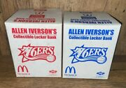 Lot Of 2 Allen Iverson Collectible Locker Bank Mcdonaldand039s 2003 Home And Away New