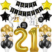 21st Birthday Decorations For Her Him 21 Birthday Decorations Include Swirl De