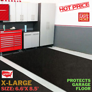 Premium Absorbent Oil Mat Contains Liquid Garage Floor Mat X-large 6.6and039 X 8.5and039