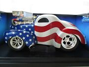 Funline - Muscle Machines - Supercharged Pro-street 1941 And03941 Willys Coupe - 1/18