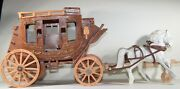 Vintage 1950's Ideal Roy Rogers Fix-it Stagecoach With Horses And Roy Figure