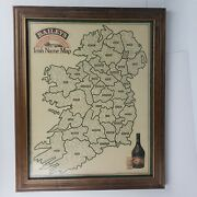 Baileys Irish Name Map Framed - Ireland - Aer Lingus Airlines St Patrick's Day
