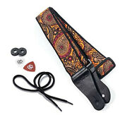 Kliq Music Gear Vintage Woven Guitar Straps For Acoustic And Electric Guitars