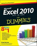Excel 2010 All-in-one For Dummies Mint Harvey Greg John Wiley And Sons Ltd Paper