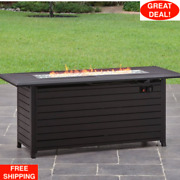 Gas Fire Pit Table 57 Inch Fireplace Heater Propane Pool Patio Porch Outdoor Pit