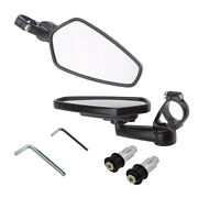 1 Set Cnc Aluminum Motocycle Side Rearview End Motorcycle Side Mirror Black