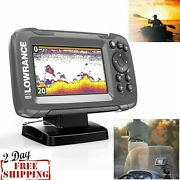 4 Freshwater Fish Finder With Gps Saltwater Boat Fishing Depth Locator Tracker