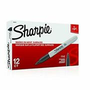 Sharpie Permanent Markers Fine Point Black 30051 72 Markers