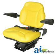Universal Big Boy Suspension Tractor Seat With Armrests -yellow