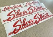 Silver Streak Vintage Camping Travel Trailer Decals 4-pak Red Colors Free Ship