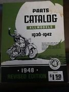 Original Indian Motorcycle Parts Catalog 1948 Edition [for All Models 1936-1942