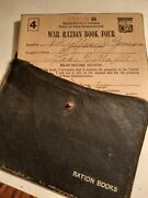 Antique World War 2 Ration Books 1234 Some With Stamps And Holder