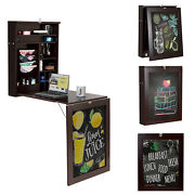 Wall Mounted Table Fold Out Space Saver Chalkboard Convertible Desk Coffee