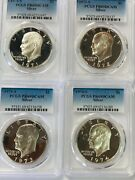 1971 S To 1974 S Silver Eisenhower Ike Dollar Pcgs Pr69 Deep Cameo 4 Coin Set