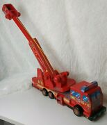 Rare Vintage Wooden Fire Truck 14 1/2 Long Hook And Ladder Is 15 Long Nice