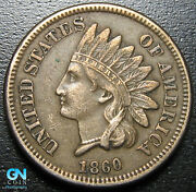 Misplaced Date 1860 Indian Head Cent Penny -- Make Us An Offer G9836