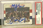 1991 Usa Olympic Team Hockey - Miracle - Eruzione And Craig Autos Psa Certified