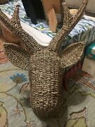 Opalhouse Seagrass Deer Head Nwt Sold Out Discontinued Htf