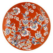 Ab Home 15 Decorative Plate In Red Finish Kih69927