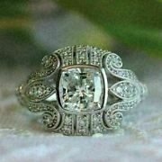 Bailey Bank And Biddle Art Deco Engagement Ring 2.5ct Diamond 14k White Gold Over