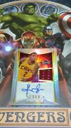 2012-13 Panini Select Jersey Auto Silver Prizms Rc Kyrie Irving /99