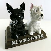 Black And White Scotch Whiskey Dog Decanter Store Display, 1974 Nice Vintage Empty