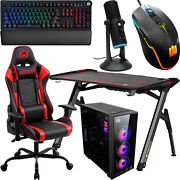 Deco Gear Pc Gaming Kit Led Desk Chair Case Mechanical Keyboard Led Mouse