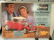 1/8 Monogram The Big Deuce And03932 Ford Roadster Model Kit Very Rare - Dc105