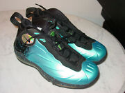 2012 Nike Total Air Foamposite Max Tim Duncan Blue Basketball Shoes Size 10