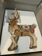 Fitz And Floyd Father Christmas Reindeer Candle Holders