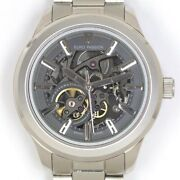 Euro Passion Round Skeleton Ss Ep199-21 Mens Automatic Winding