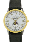 Secondhand Universal Geneve Battery Replaced Triple Calendar Moon Phase