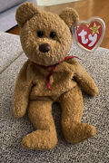 Ty Beanie Babies Curly The Bear Plush - 4052 Retired With Swing/tush Tag Errors