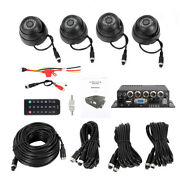 4ch Vehicle Car Mobile Dvr Security Video Recorder W/ Power Cable+4x Cctv Camera