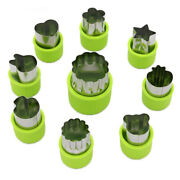 9 Pcs Vegetable Cookie Cutter Shapes Set,mini Pie,fruit And Cookie Stamps Mold