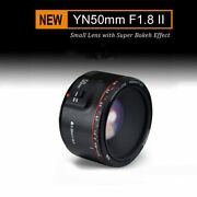 Yongnuo 50mm F1.8 Large Aperture Auto Focus Prime Fixed Lens For Canon Ef Eos
