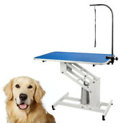 42x 23 Hydraulic Pet Dog Grooming Table With Adjustable Arm Drying Table