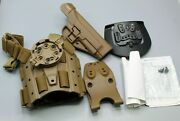 New Blackhawk Usmc Coyote Brown Holster System. M-9 Tactical Holster. Right.