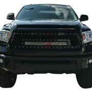 For Toyota Tundra 14-17 1-pc Red Mesh Main Grille W 1 X 30 Led Light Bar
