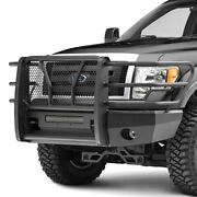 For Ford F-150 09-14 Bumper Elevation Series Full Width Black Front Hd Bumper W